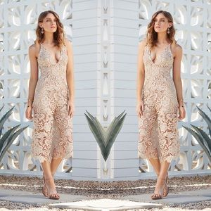NWT Dress the Population Marion Lace Romper